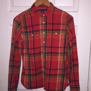 Ralph Lauren Flannel Slim Fit Plaid Button Shirt